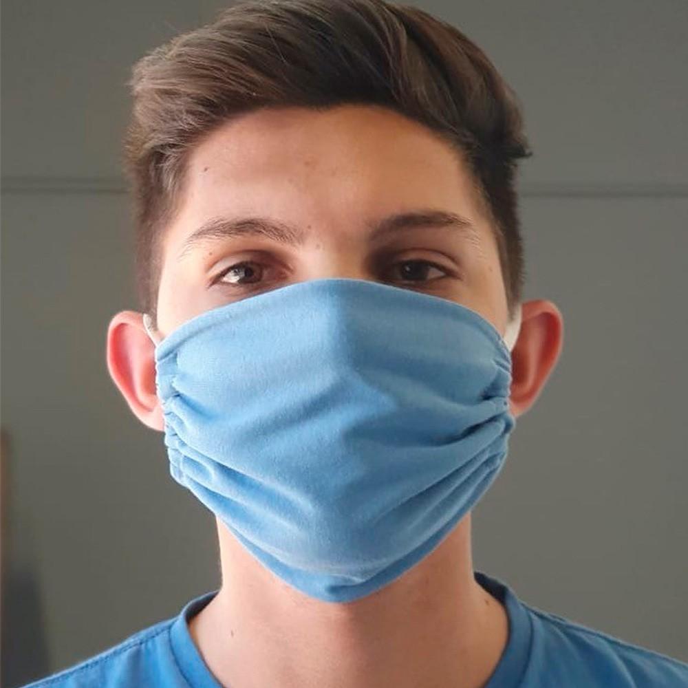Kit 03 Peças Máscara Protetora Reutilizável Masculina Lisa Ref 45.04.0001