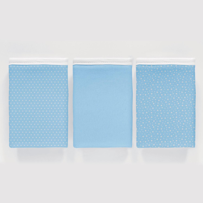 Kit 3 peças Fronha Vivaldi Baby Basic Azul Ref: 66.01.0021/3348