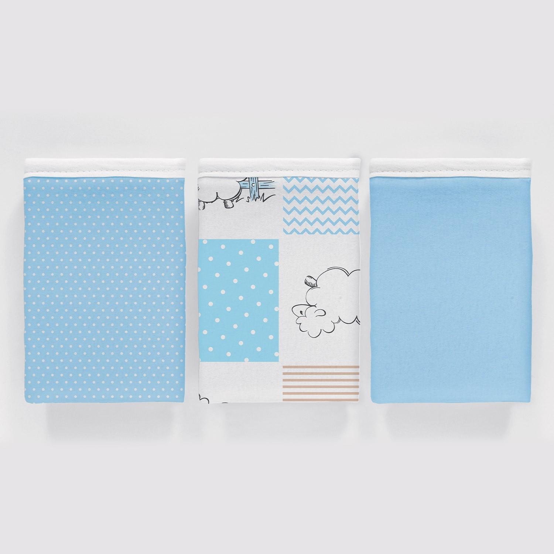 Kit 3 peças Fronha Vivaldi Baby Ovelhinhas Azul Ref 66.01.0021/3342