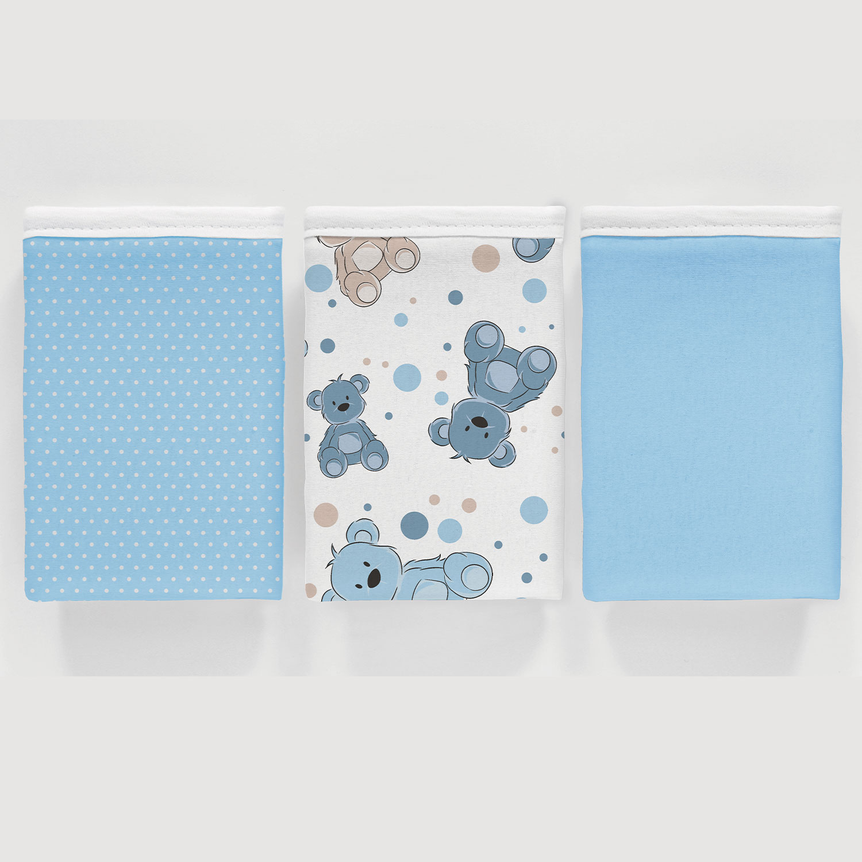 Kit 3 peças Fronha Vivaldi Baby Urso Azul Ref: 66.01.0021/3338
