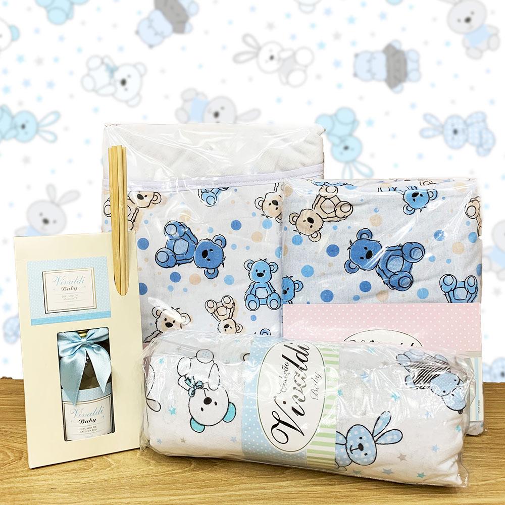 Kit Baby Menino Urso Azul