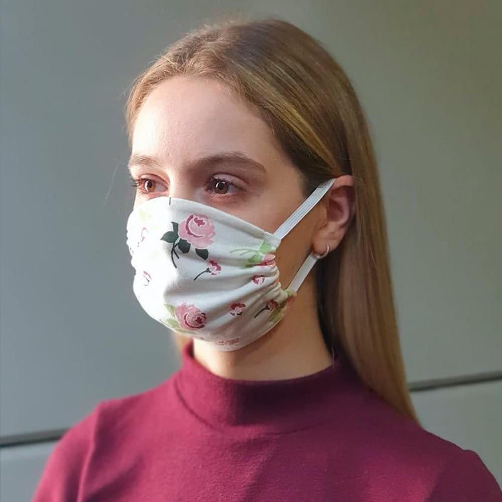 Máscara Protetora Reutilizável Avulsa Feminina Estampada Ref 45.02.0003