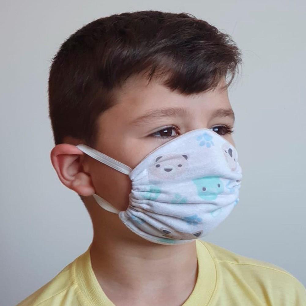 Máscara Protetora Reutilizável Avulsa Infantil Estampada Ref 45.03.0003