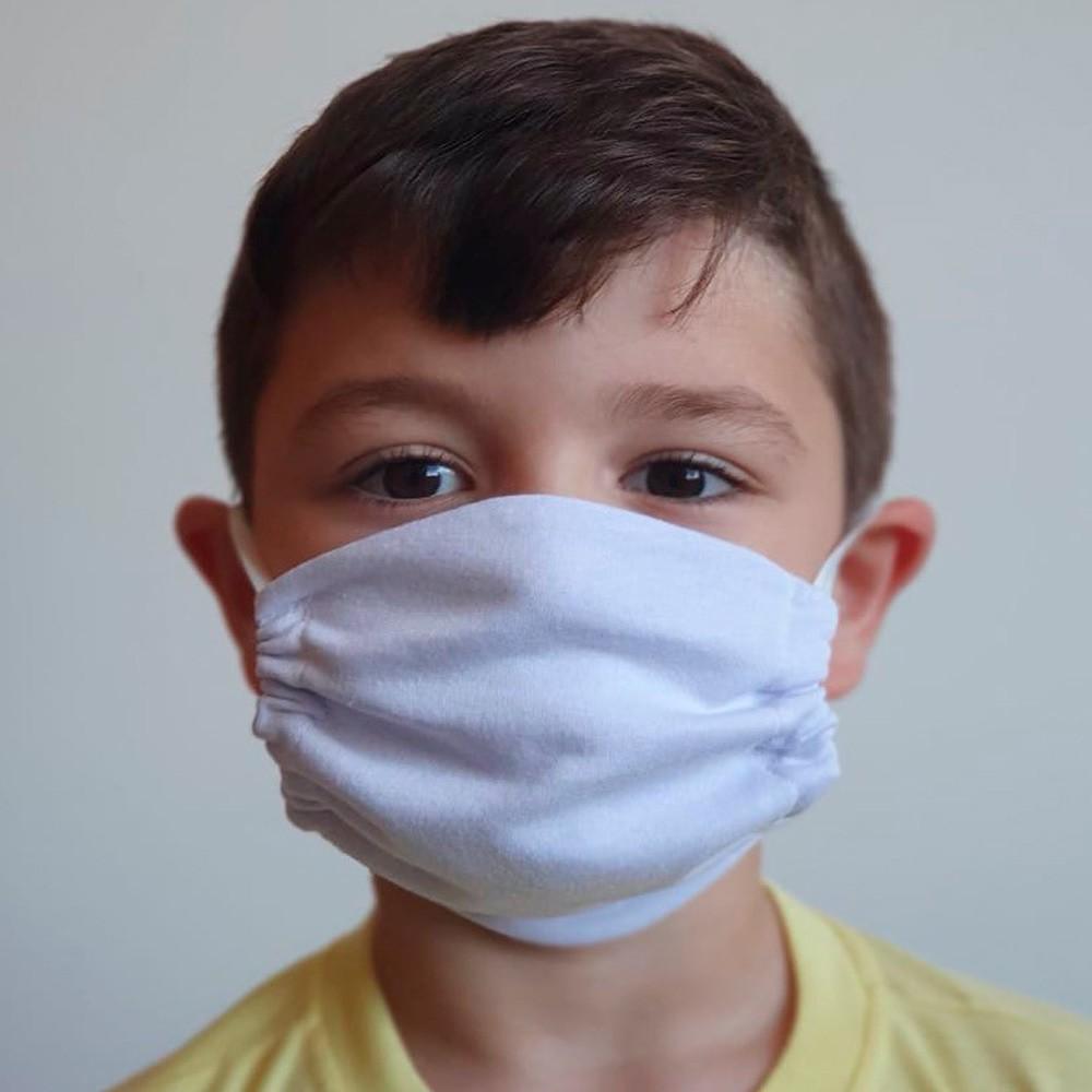 Máscara Protetora Reutilizável Avulsa Infantil Lisa Ref 45.03.0001