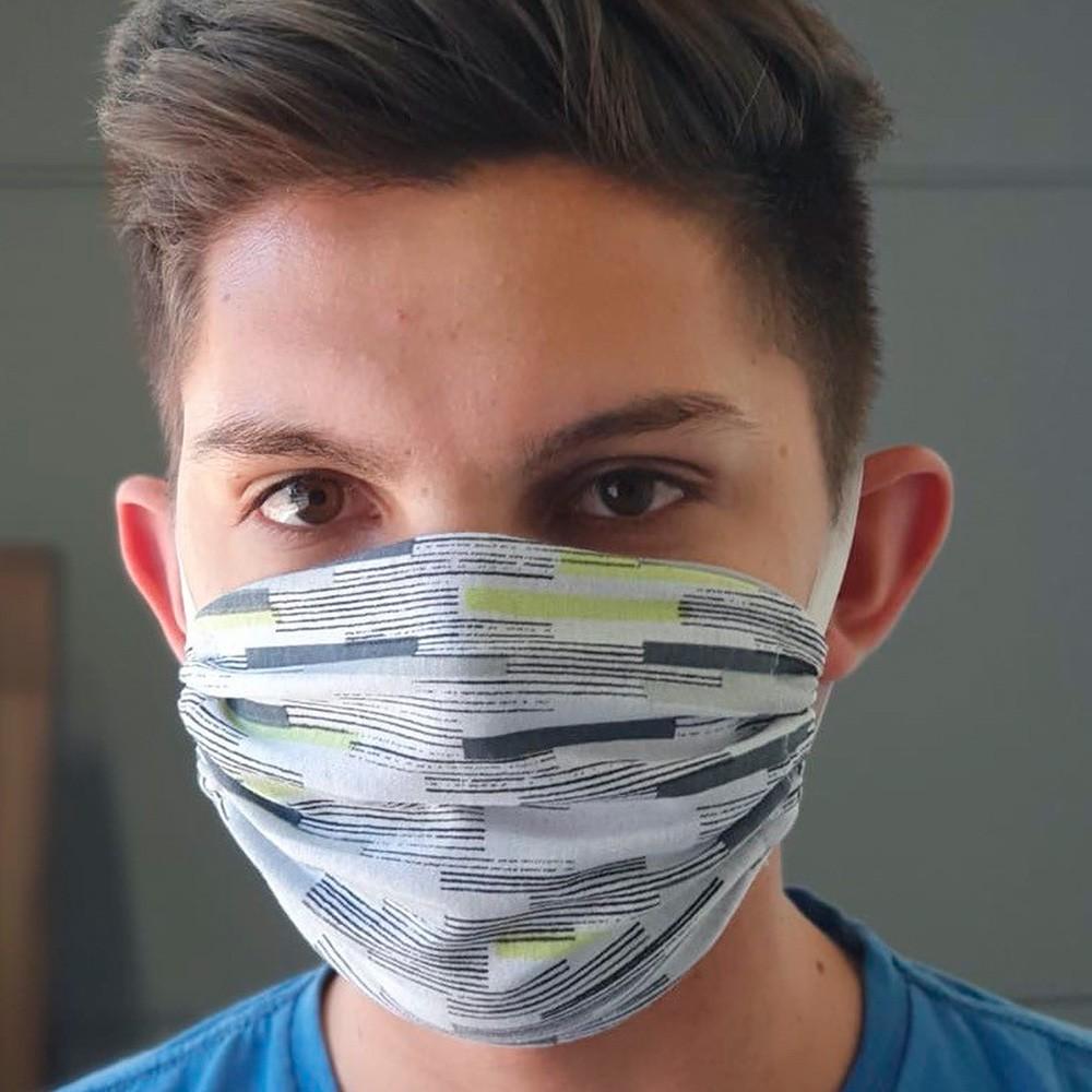 Máscara Protetora Reutilizável Avulsa Masculina Estampada Ref 45.01.0003