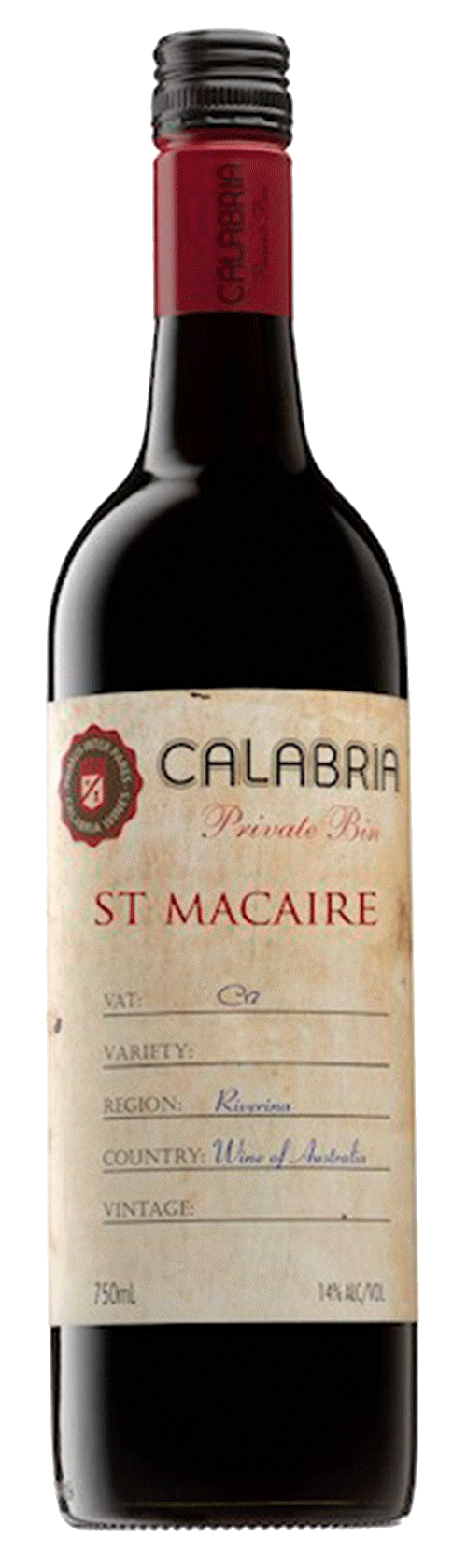 Calabria Private Bin Saint Macaire 2013
