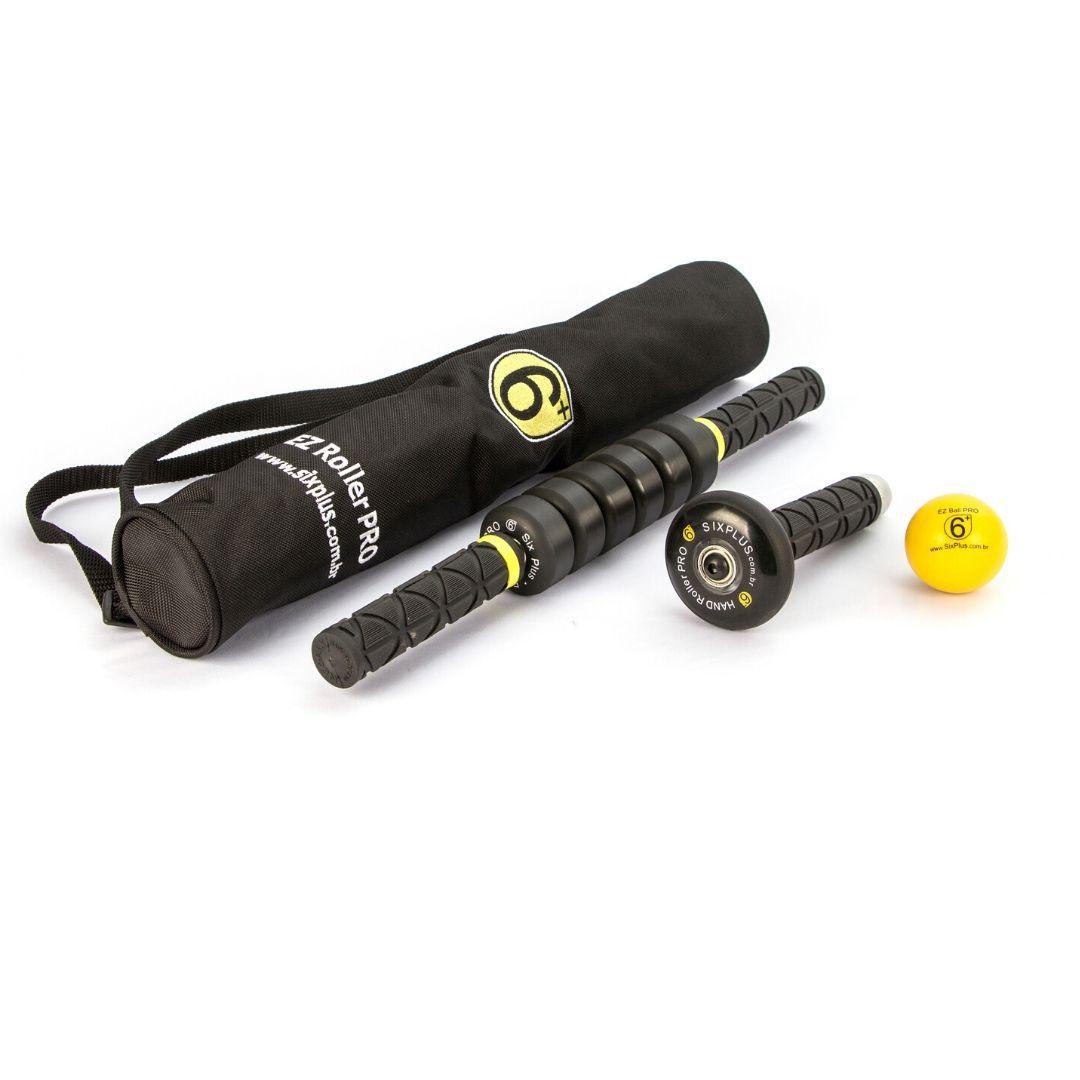 Kit Sport 2 Bastão Massageador Bola 50mm Hand Roller Liberação Miofascial Six Plus