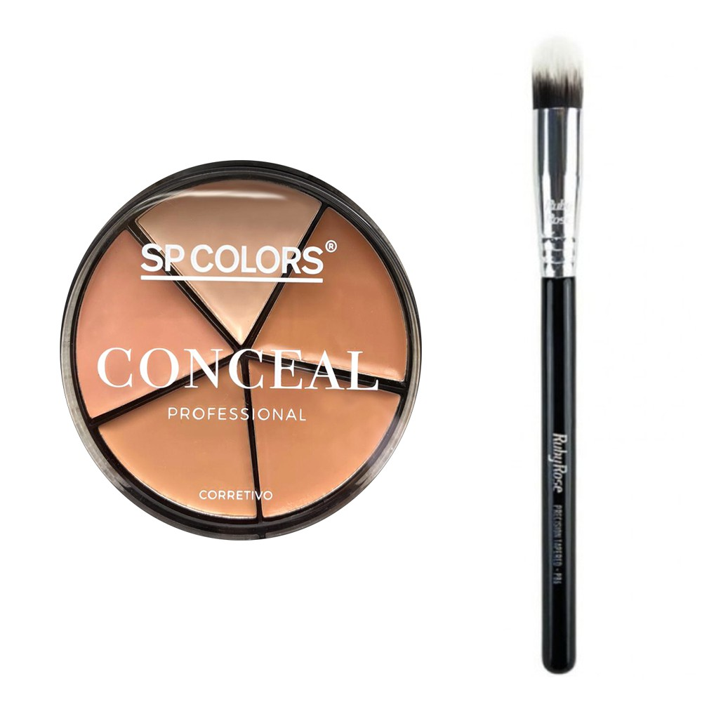 Corretivo Conceal Professional + Pincel P89 Ruby Rose