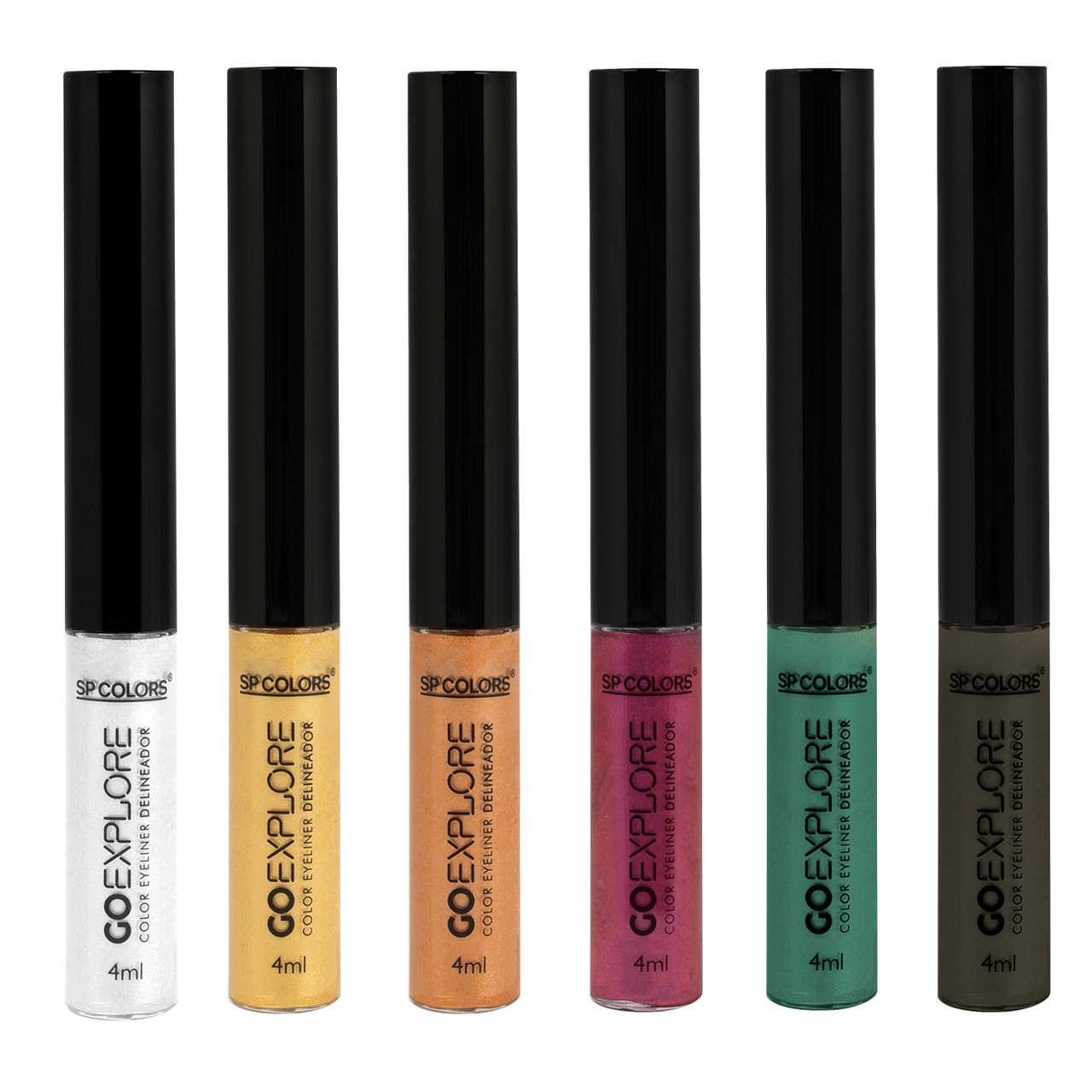 Delineador Metalizado Go Explore 6 cores SP Colors