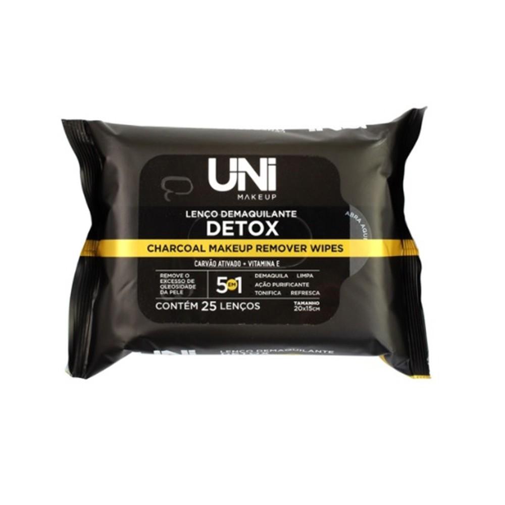 Lenço Demaquilante Detox Uni Make Up 25uni