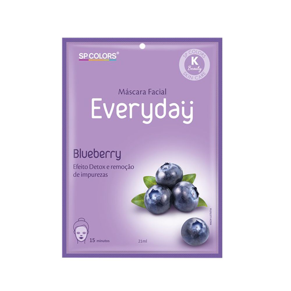 Máscara Facial SP Colors Everyday - Blueberry