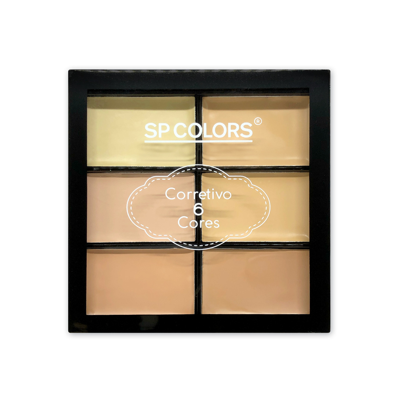 Paleta de Corretivo 6 Cores SP Colors Versão Única
