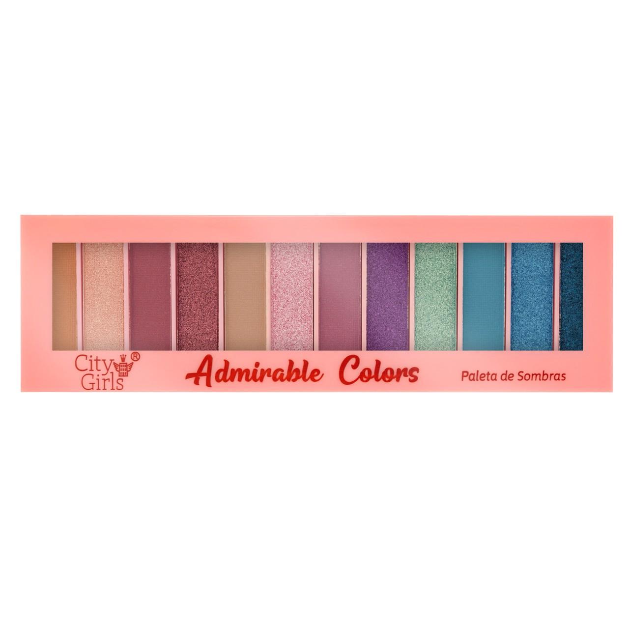 Paleta de Sombras 12 cores City Girls Admirable Colors