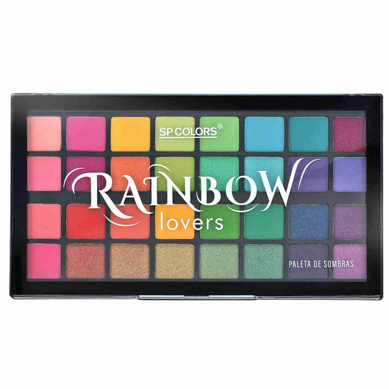 Paleta de Sombras 32 Cores SP Colors Rainbow Lovers