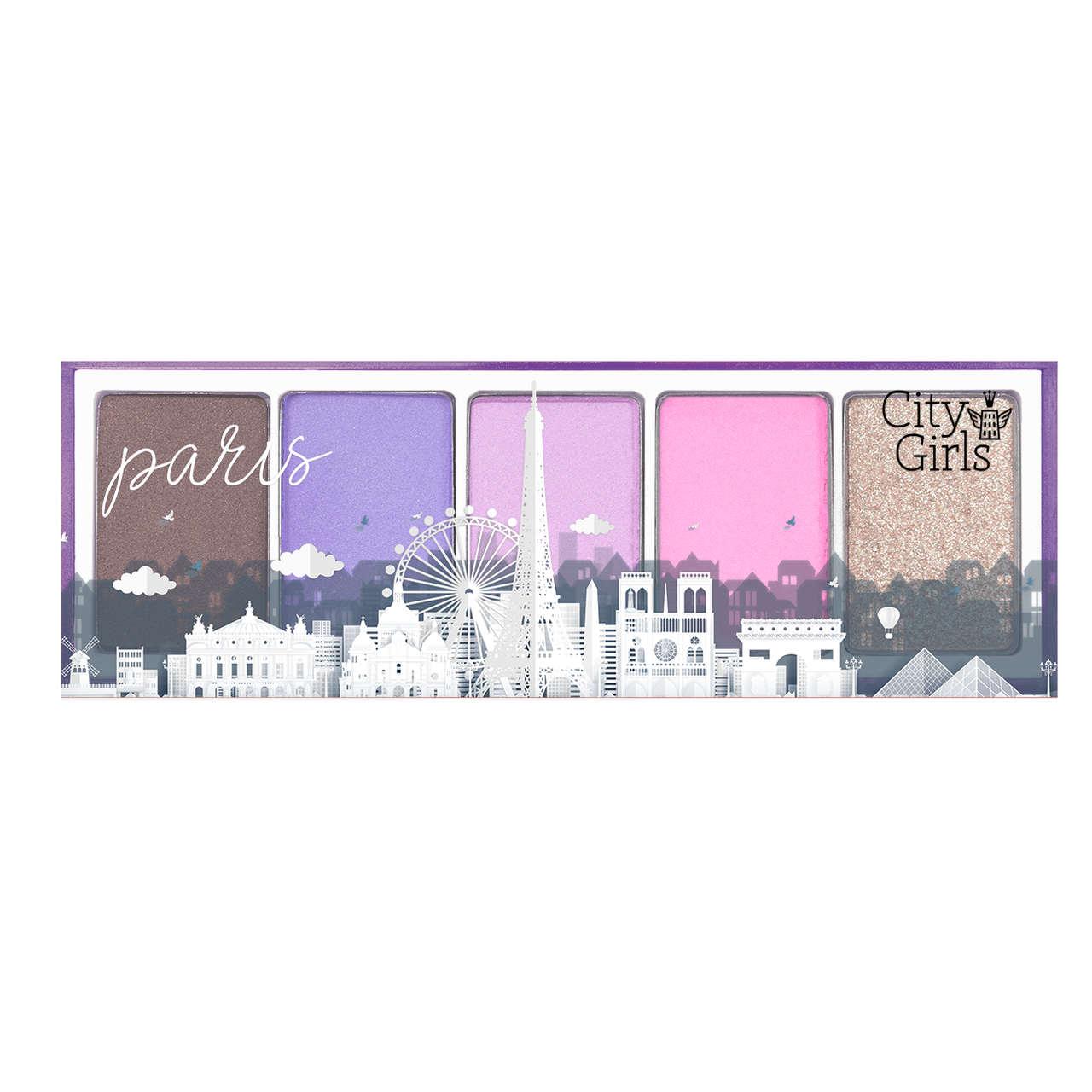 Paleta de Sombras 5 Cores Coleção Mundo Paris / New York City Girls