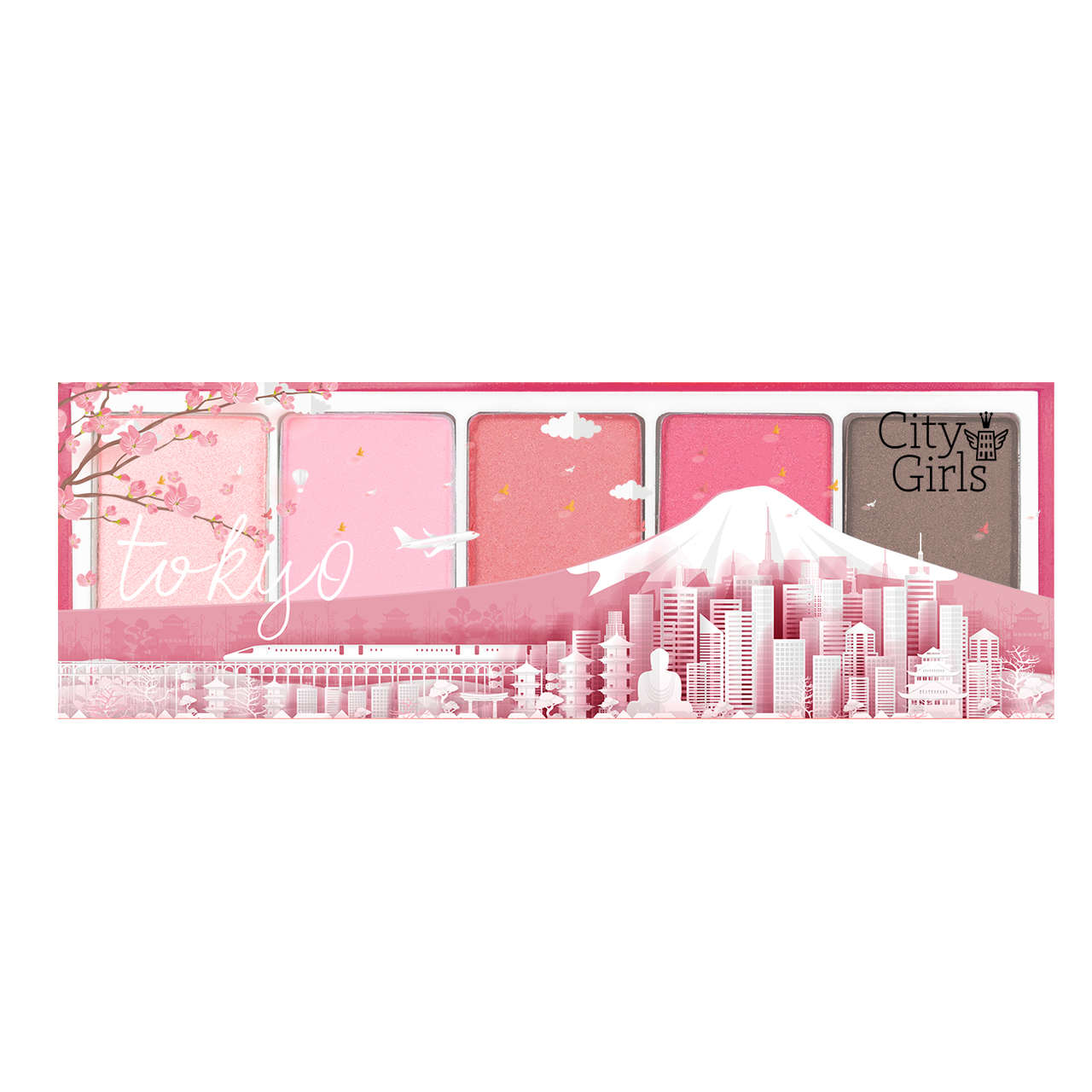 Paleta de Sombras 5 cores Coleçao Mundo Tokyo / Toronto City Girls