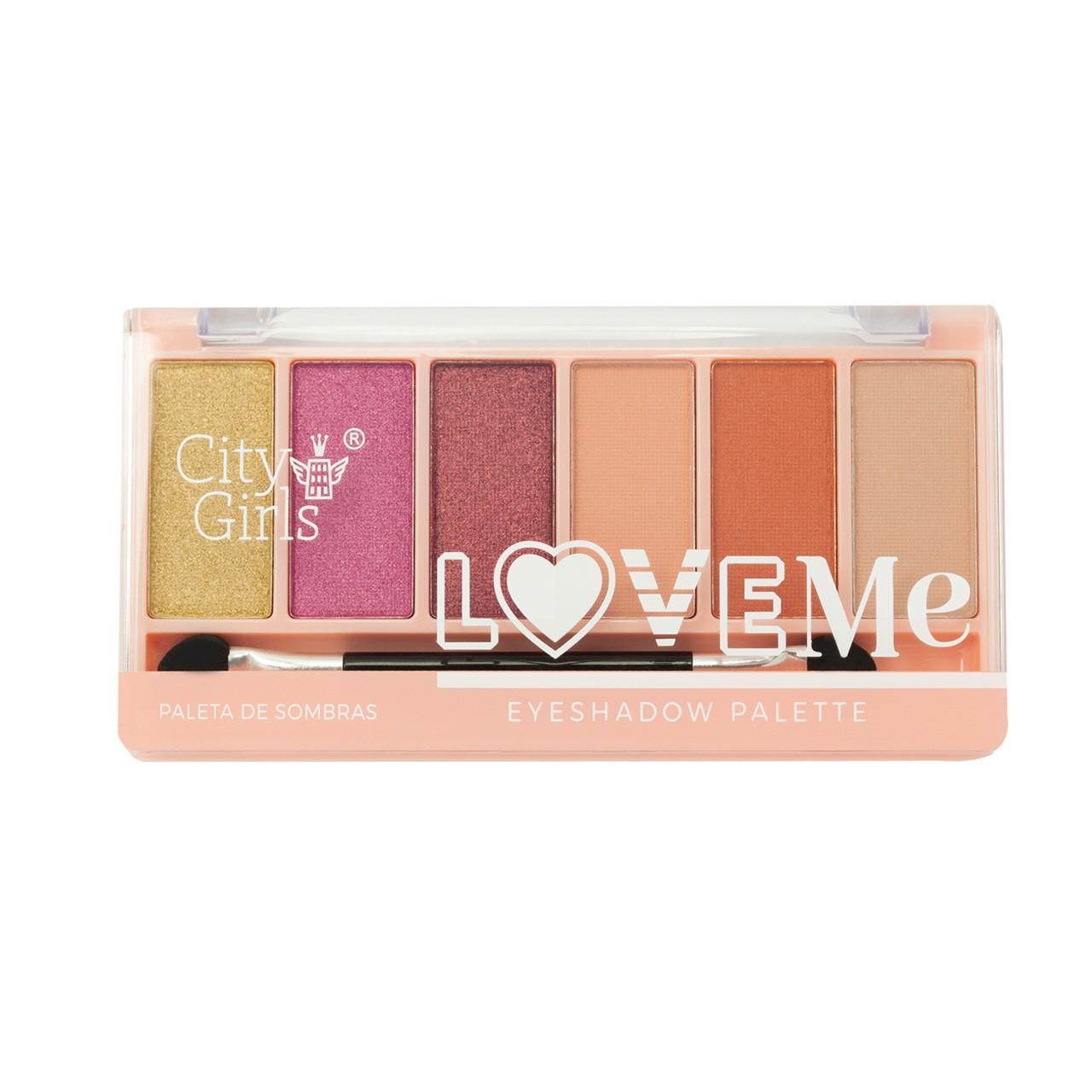 Paleta de Sombras 6 cores City Girls Love Me