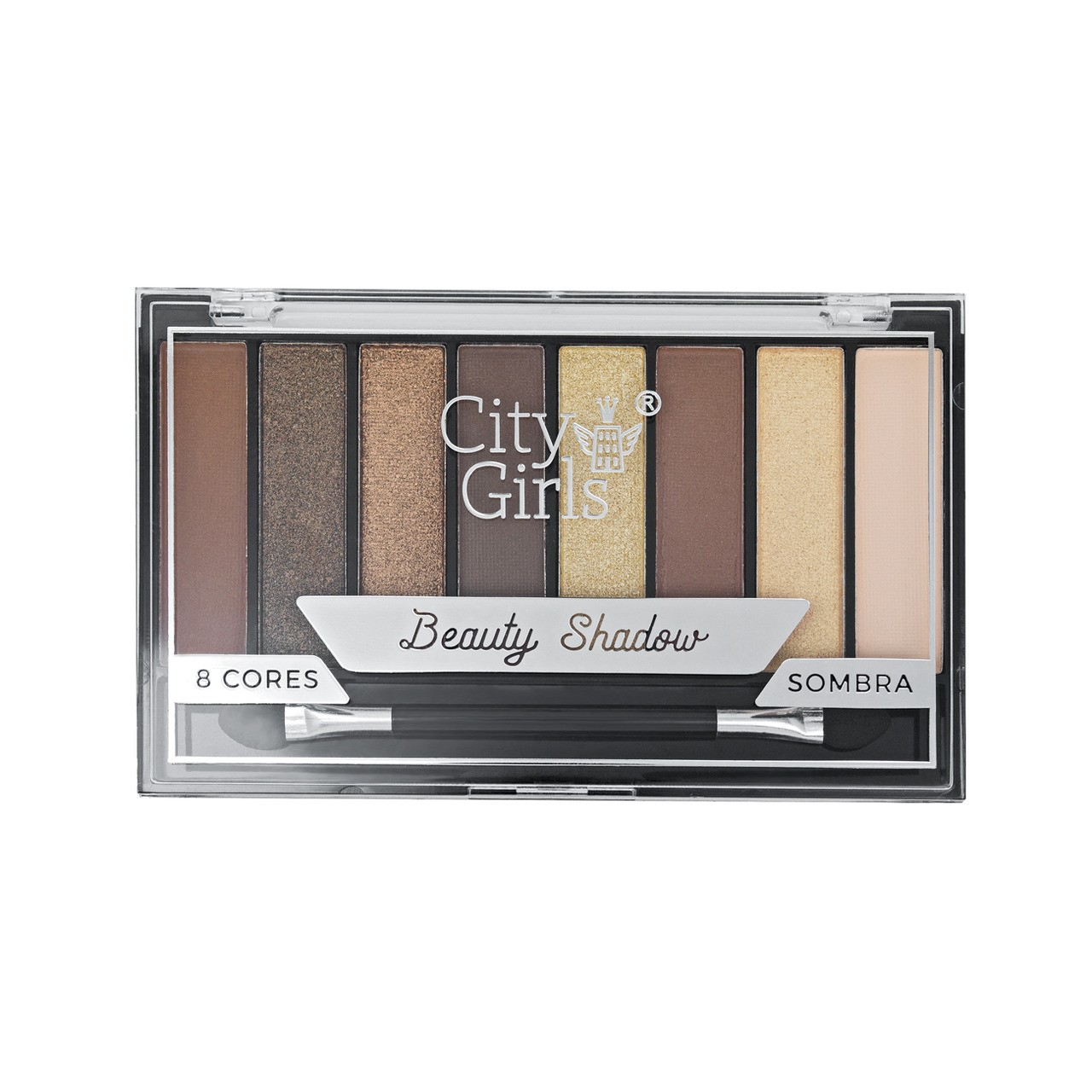 Paleta de Sombras 8 cores City Girls Beauty Shadow