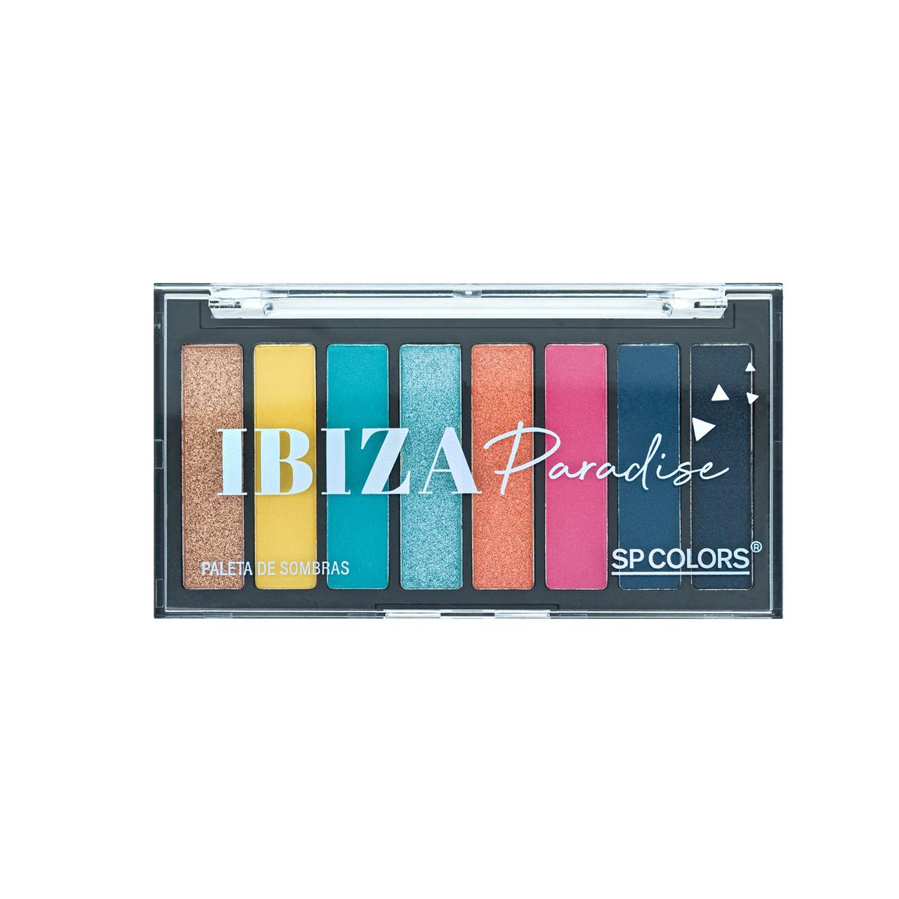 Paleta de Sombras 8 Cores Ibiza Paradise SP Colors