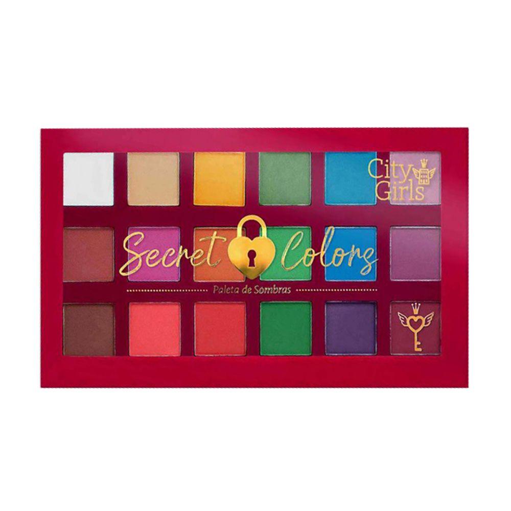 Paleta de Sombras City Girls Secret Colors