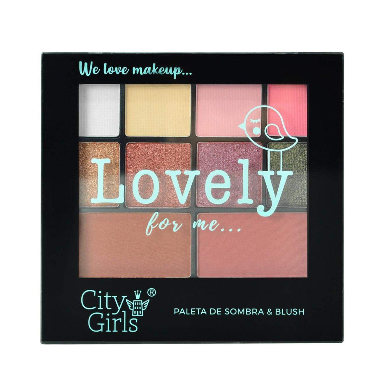 Paleta de Sombras e Blush Lovely For Me City Girls