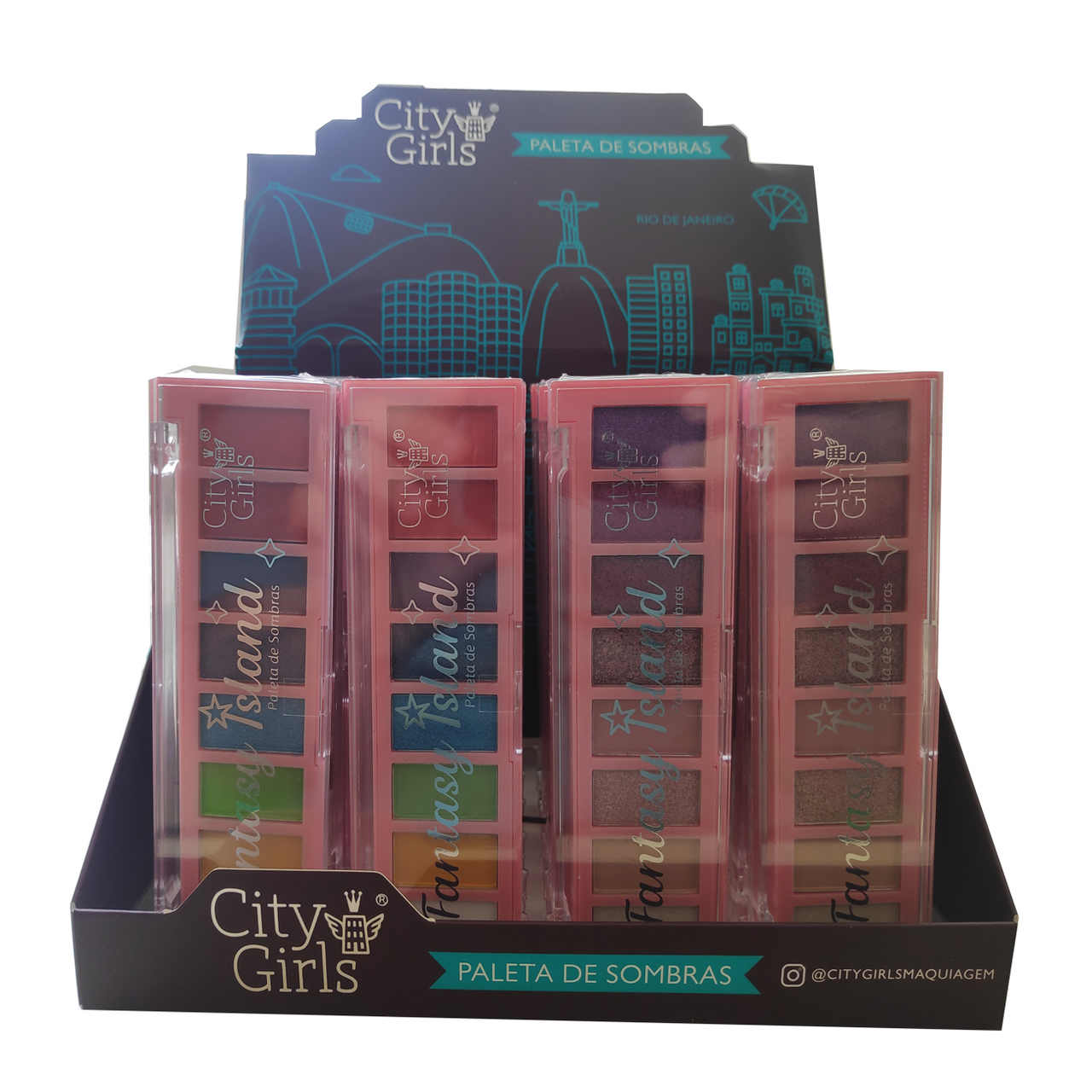 Paleta de Sombras Fantasy Island City Girls - Display com 24 unidades - CG179 Atacado
