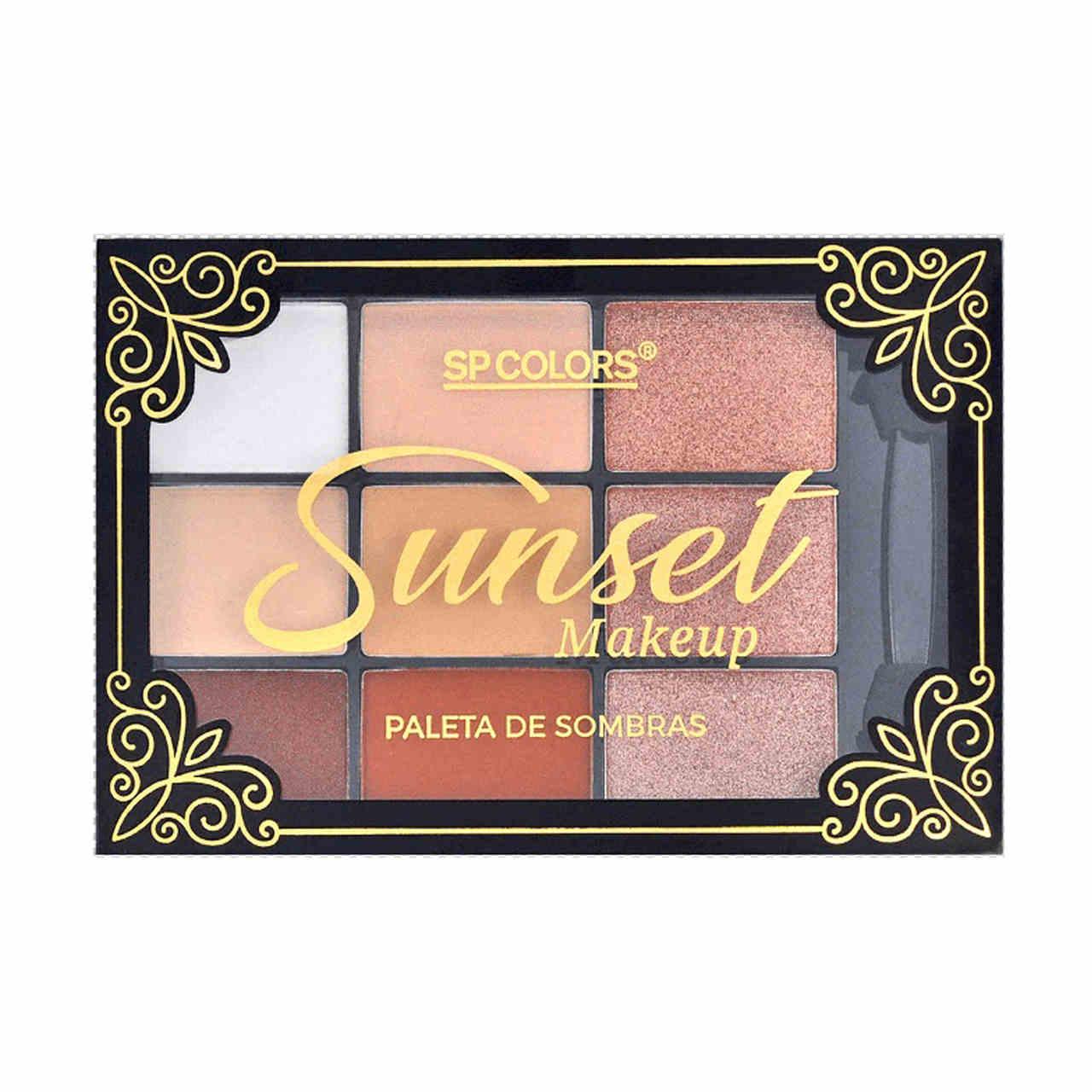 Paleta de Sombras Sunset Makeup Sp Colors
