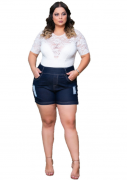 Bermuda Jeans Plus Size - Destroier - Social - Daife