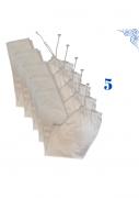 Calça em Brim com Elástico,3 Bolsos -Uniforme Profissional - 05 Peças