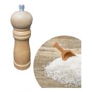 Moedor de Sal e Pimenta em Madeira de Reflorestamento Ecológico