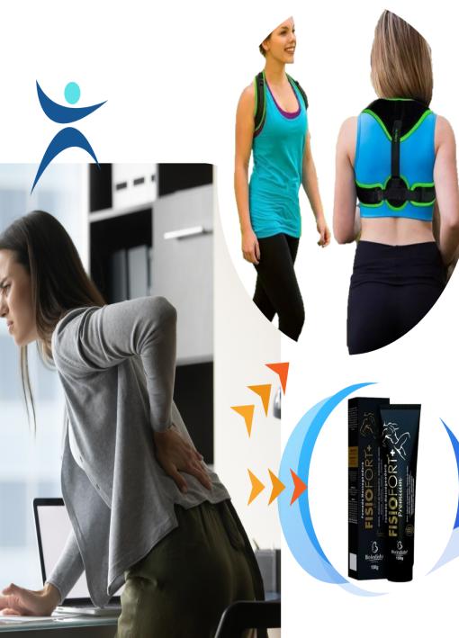 Elimine dores Colete  + Pomada Massageadora Fisiofort Premium
