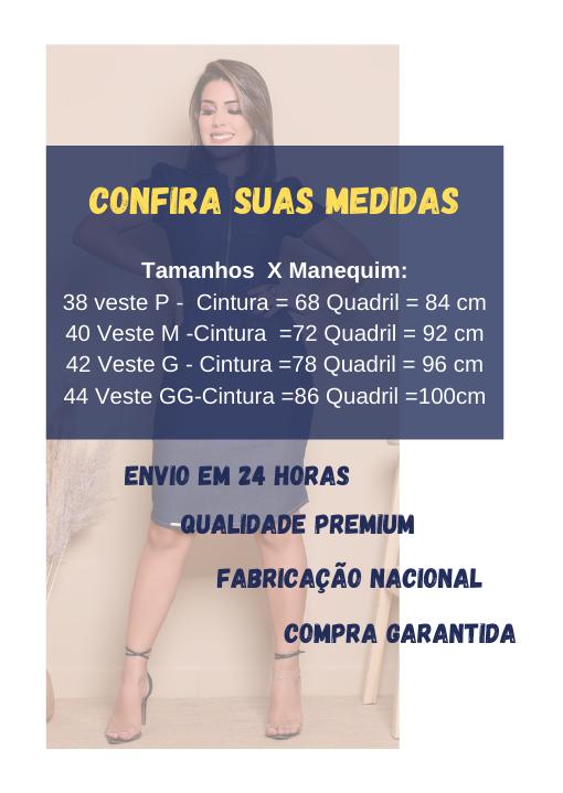 Vestido Jeans Tubinho Ziper Bolso Cordinha - Livia