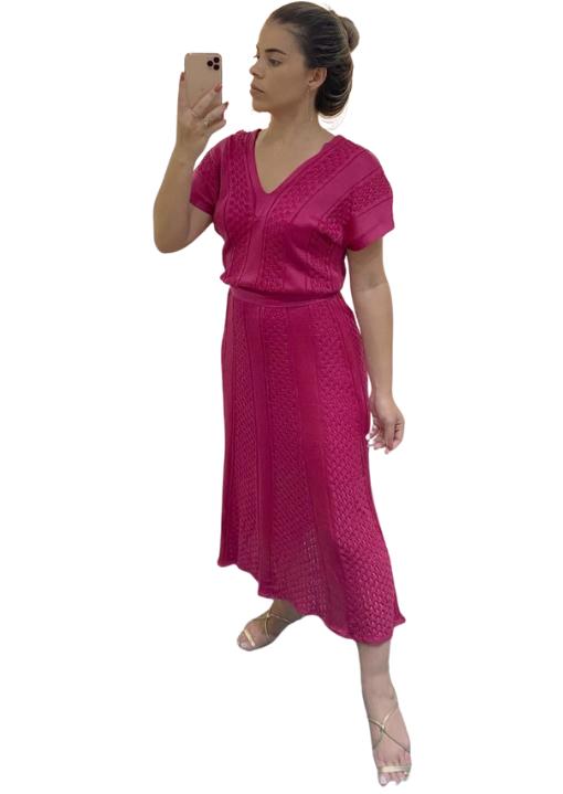 Vestido Tricô Forrado