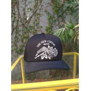 Boné Trucker New Custom Hand and Rose