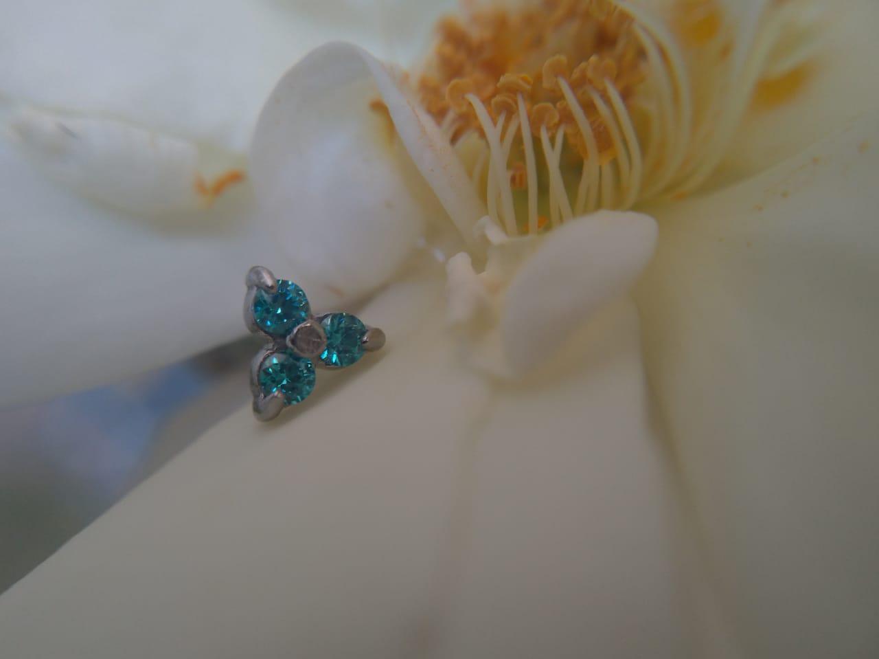 Piercing Magnolia Swarovski Micro Barbell