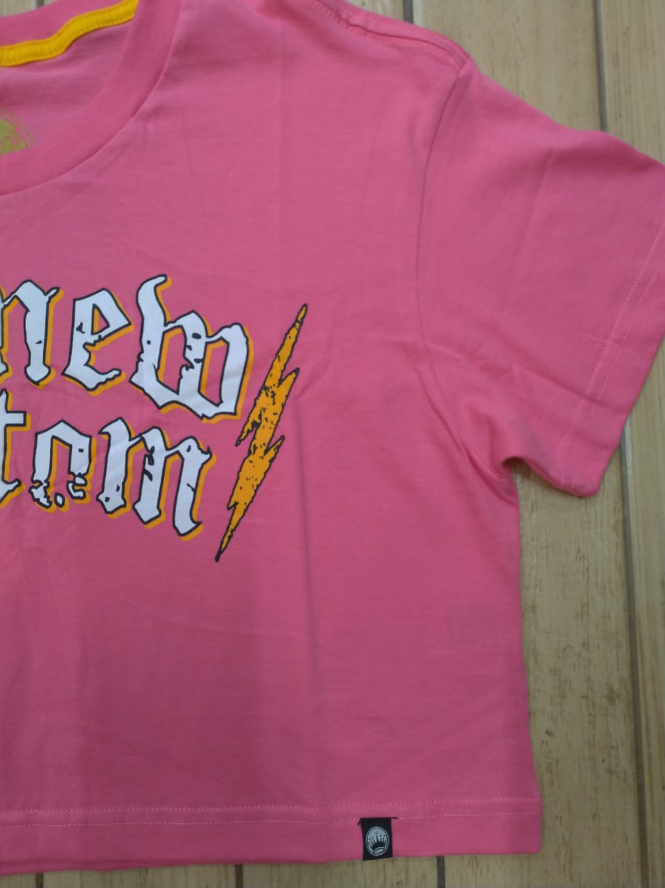 Top cropped New Custom Pink