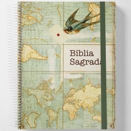 Bíblia Sagrada Jornada Anote NAA Letra Normal Capa Dura Espiral Send   Plenitude