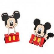 Binder Clips 25mm Mickey Mouse - Conjunto com duas peças | Molin