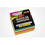 Bloco Adesivo 50x50mm Neon com 250 Fls | BRW