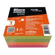 Bloco Adesivo 76x76mm 400 Folhas Jocar Office | Colorido | Leonora