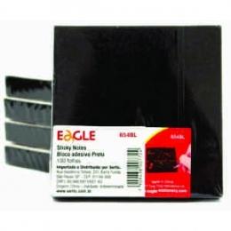 Bloco Adesivo Sticky Notes Preto Eagle - 100 Folhas   Sertic