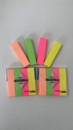 Bloco De Anotacao Sticker Adesivo Fita Com 500 Folhas Colors   Importado