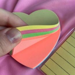 Bloco de Anotações Coração Colorido   BRW