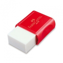 Borracha branca Fc Max Pequena Plastica | Vermelha | Faber-Castell