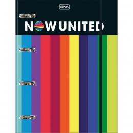 Caderno Argolado Cartonado Universitário com Elástico Now United 80 Folhas | Tilibra