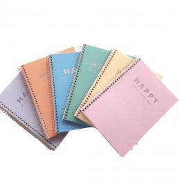 Caderno Colegial Capa Plástica Happy 80 folhas - Cores Variadas   Tilibra