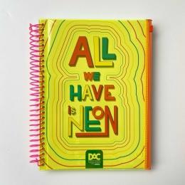 Caderno Color Bubble Neon Universitário 10 Matérias 160 Folhas Amarelo | DAC