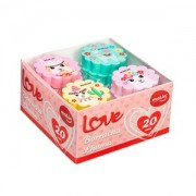 Caixa com 20 unidades Borracha Love Lhama | Molin