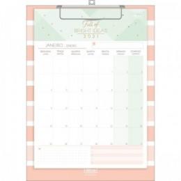 Calendário Planner Prancheta Mensal Soho Salmão | A4 12 folhas | Tilibra