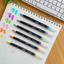 Caneta Brush Pen Brw Tom Pastel Com 6 Cores   BRW
